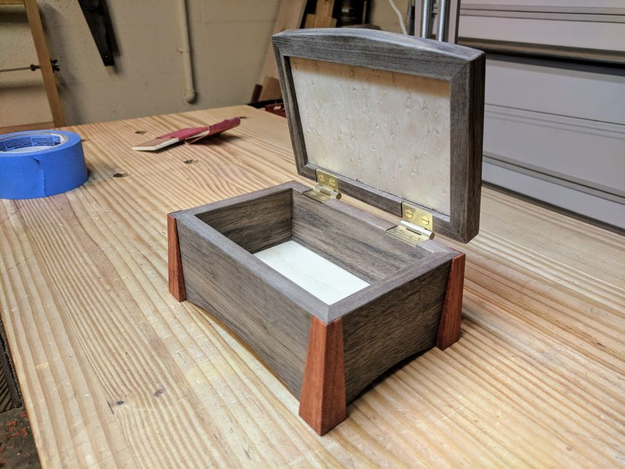 Photo of Birdseye Maple And Walnut Box