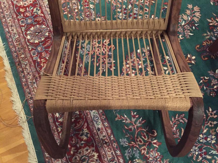 Photo of Walnut And Danish Cord Rocking Chair