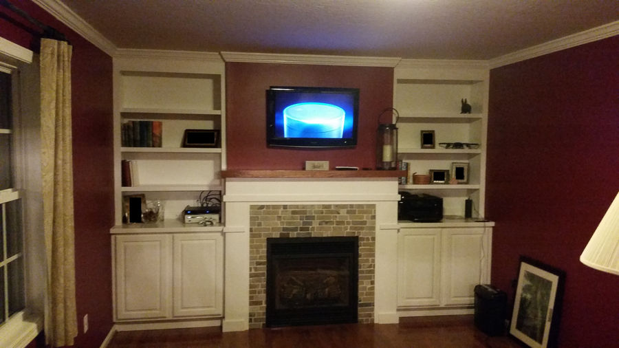 Photo of Project Day: Fireplace With Built-Ins