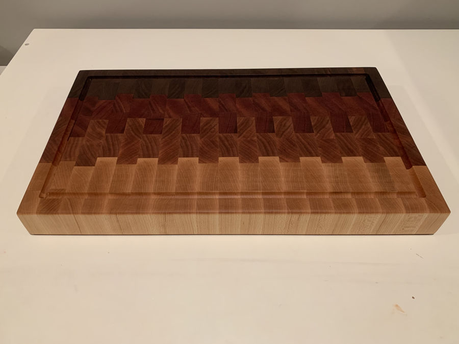 Photo of Ombré end grain cutting board