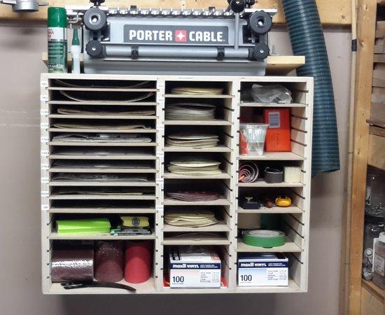 Sandpaper Organizer
