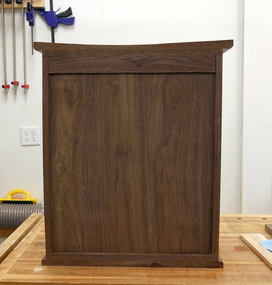 Photo of Quilted Maple Wall Hanging Cabinet