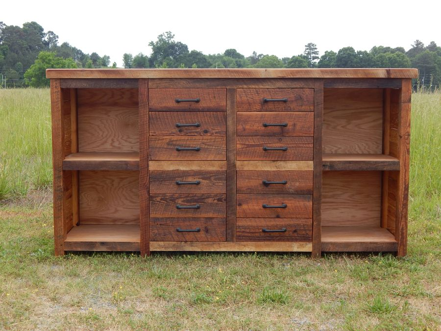 Photo of Reclaimed Wood Filing Cabinet
