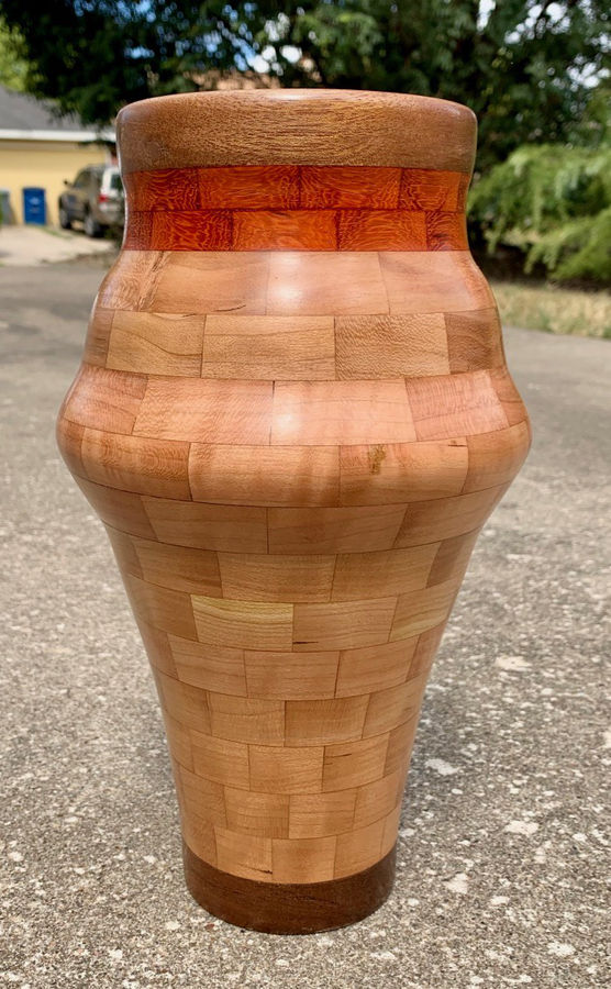 Photo of Tall Vase in Cherry, Walnut and Paduak