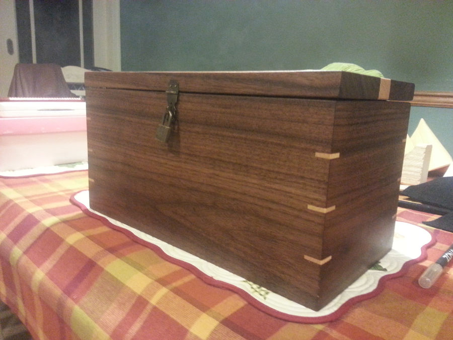 Photo of Walnut & Maple Wedding Time Capsule Box