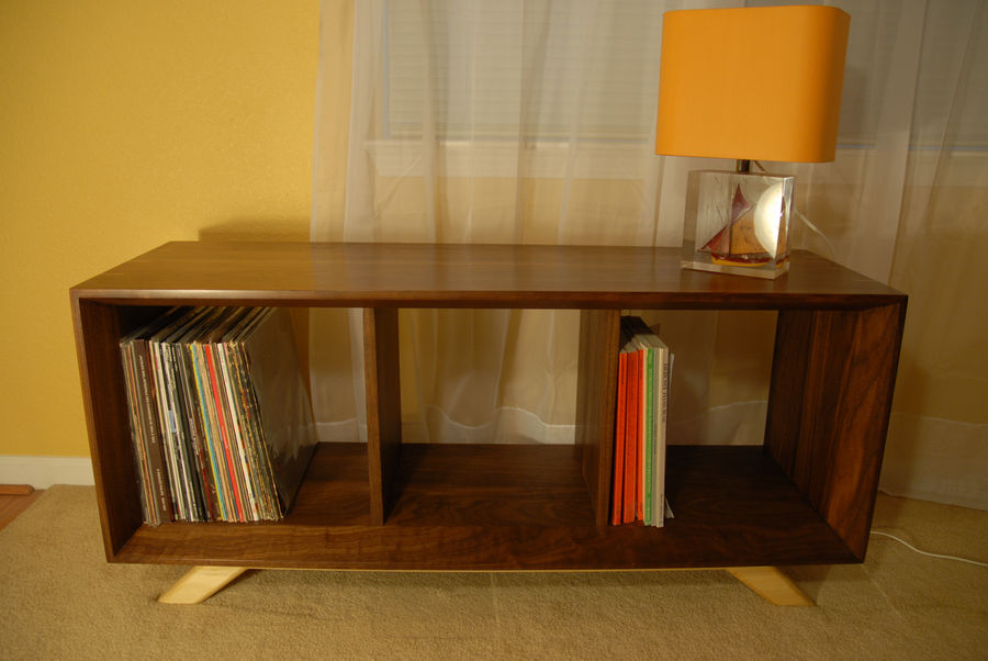 Photo of Mid-Century Modern Record Cabinet