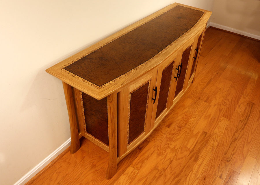 Photo of Curved Front Liquor Cabinet