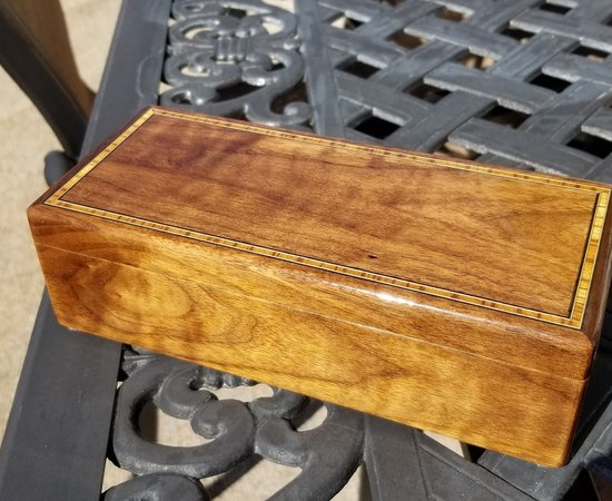 Walnut Box With Cherry Inserts