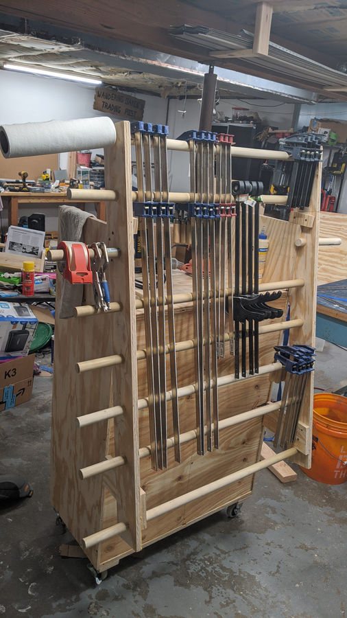 Photo of Mobile Clamp Storage Cart