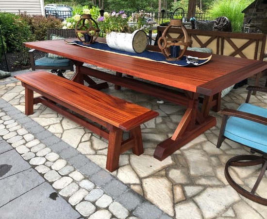 Backyard Dining Table & Benches