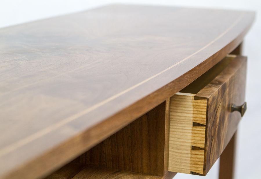 Photo of Curved Walnut Sofa Table