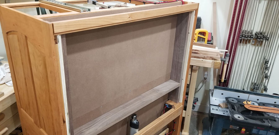 Photo of Cherry Chest with Remote Controlled Hidden Drawer