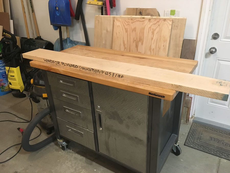 Photo of Apartment Woodworking Bench
