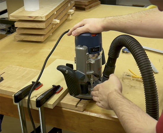 Milling Lumber & Cutting Tapered Sliding Dovetails