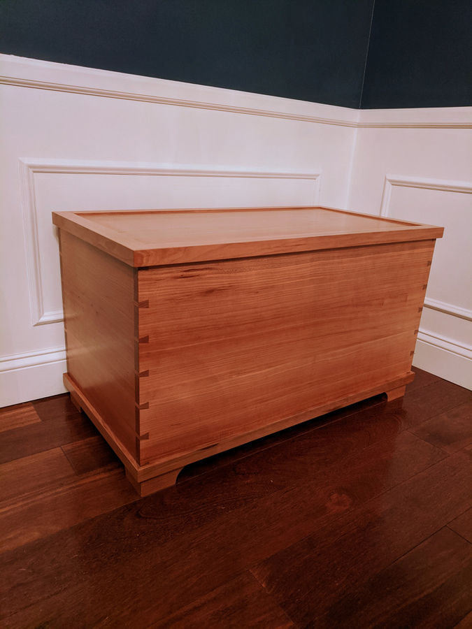 Photo of Blanket Chest in quarter sawn Cherry
