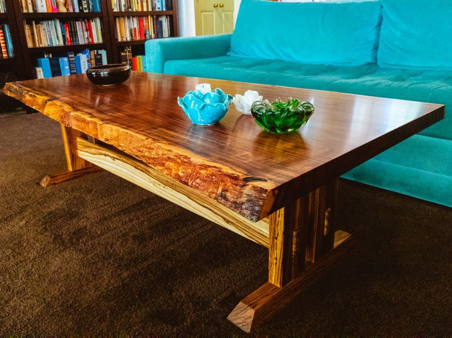 Photo of Zebrawood And Tzalam Coffee Table