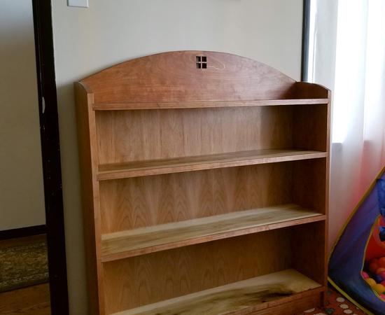Craftsman-Esque Bookshelf In Cherry