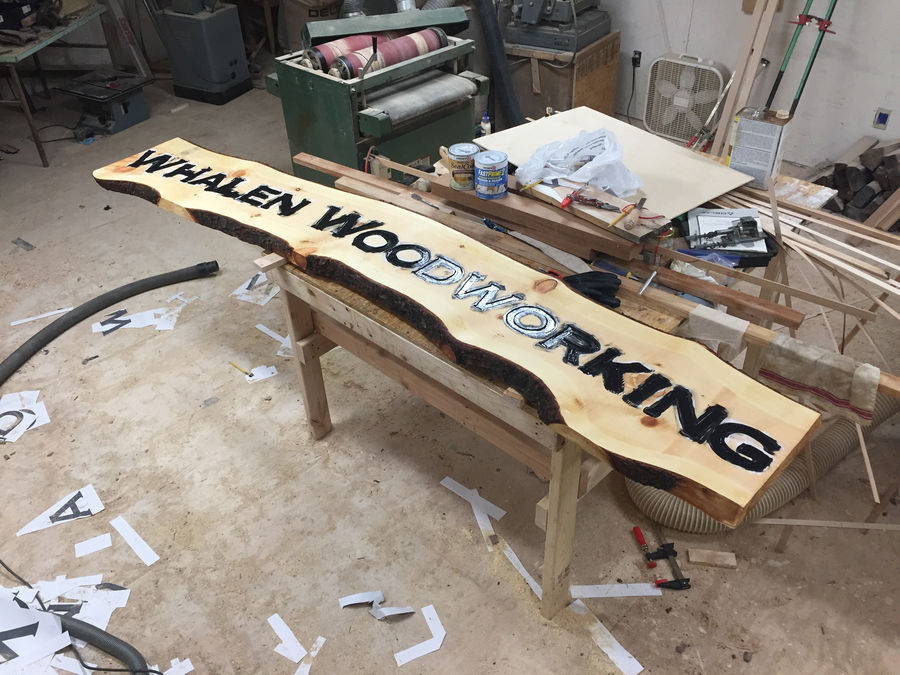 Photo of Whalen Woodworking Shop Sign