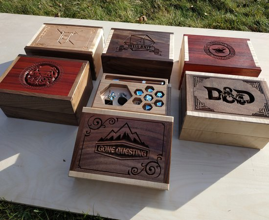 D&D Dicetray and Minifig Boxes