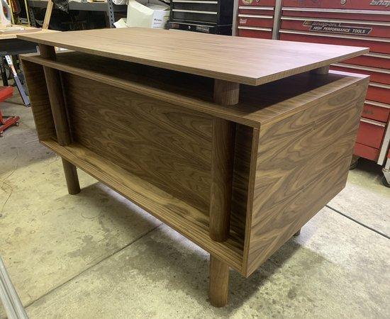 Modern Desk and Book Shelf Set