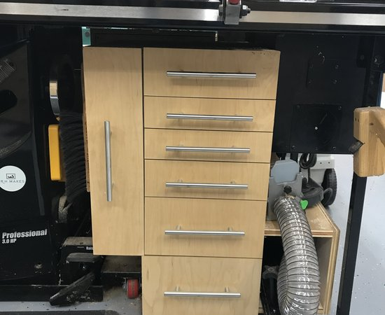Table saw Storage Cabinet.