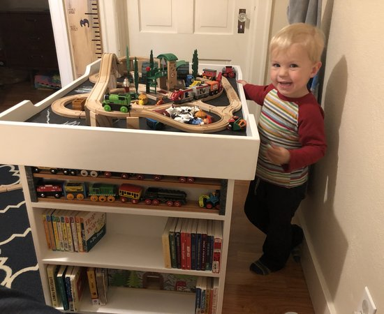 Train and Lego table for a kid