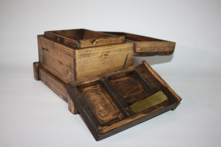 Photo of Distressed Secret Compartment Box Ii