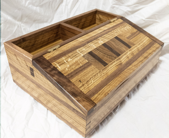 White Oak And Walnut Desk Box