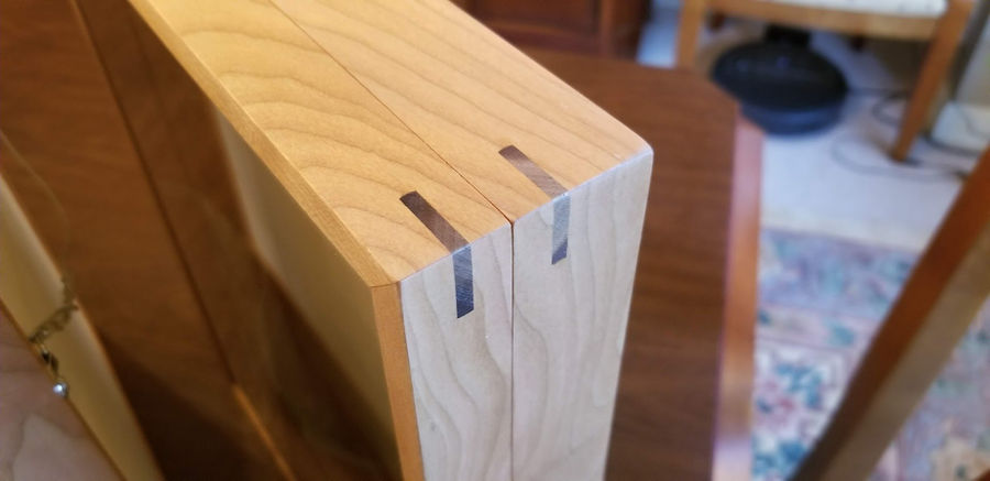 Photo of Improved Butterfly Box in Cherry with Walnut Miter Splines