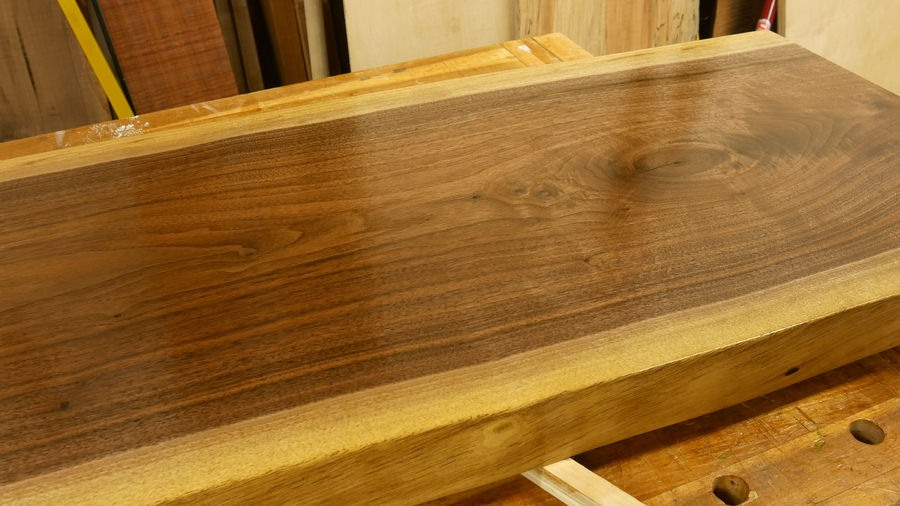 Photo of Walnut Live Edge Bench