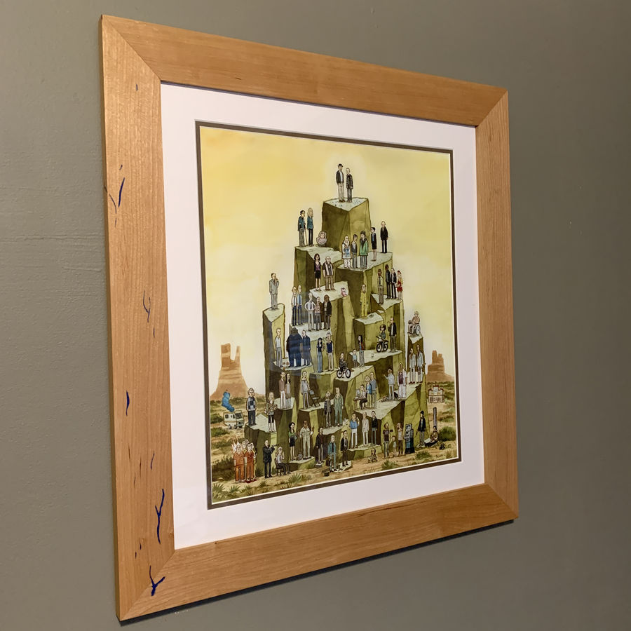 """Photo of """"Blue Sky"""" Picture Frame in Cherry"""