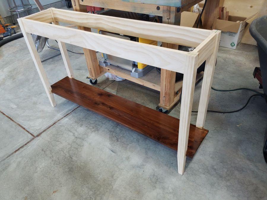 Photo of Walnut Foyer Table