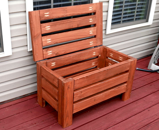 Diy Rustic Outdoor Storage Bench   Create Your Free Maker Profile    SimpleCove