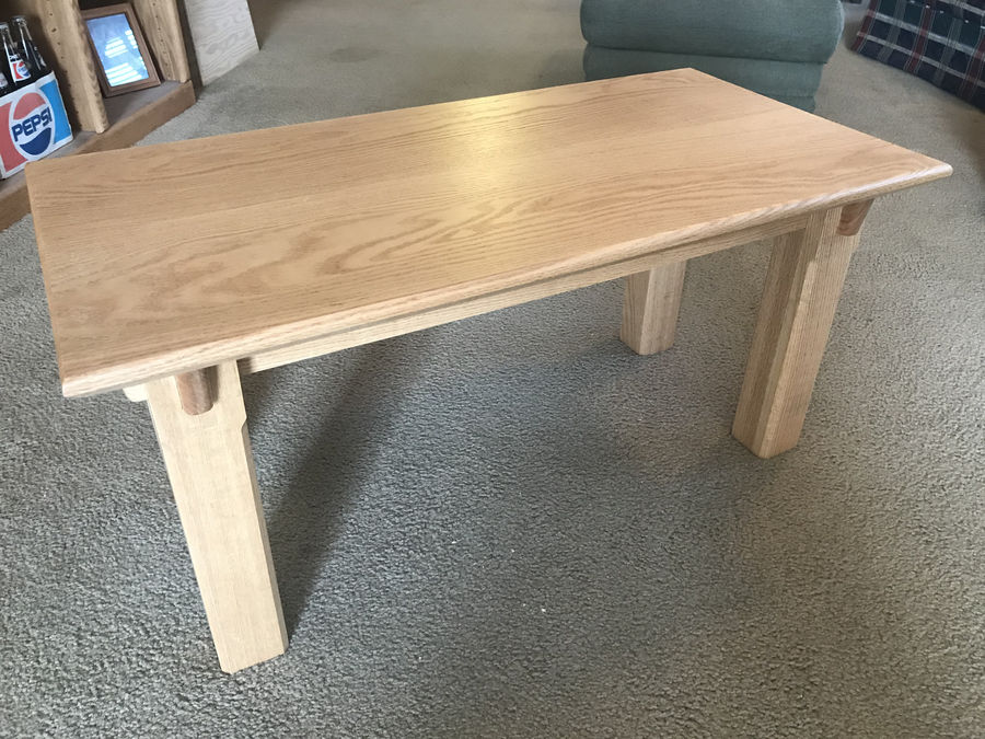Photo of Red Oak Coffee Table