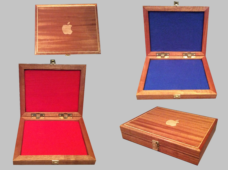 Photo of Wooden Ipad Air Box With Apple Inlay