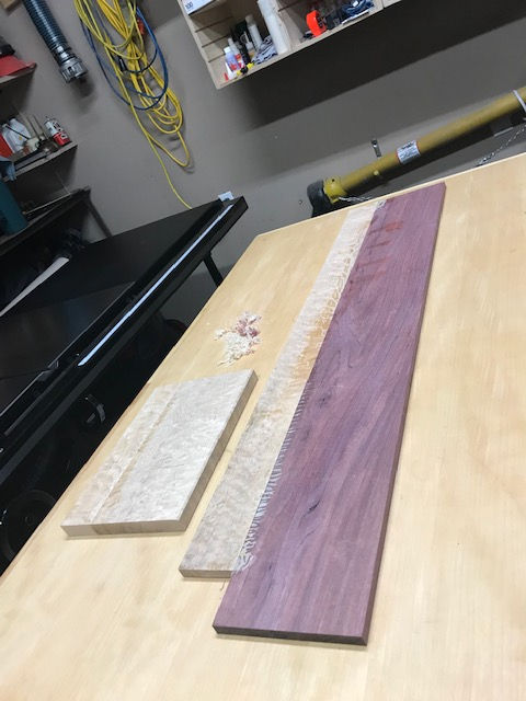 Photo of Purple Heart & Bird's-Eye Maple Greeting Card Box