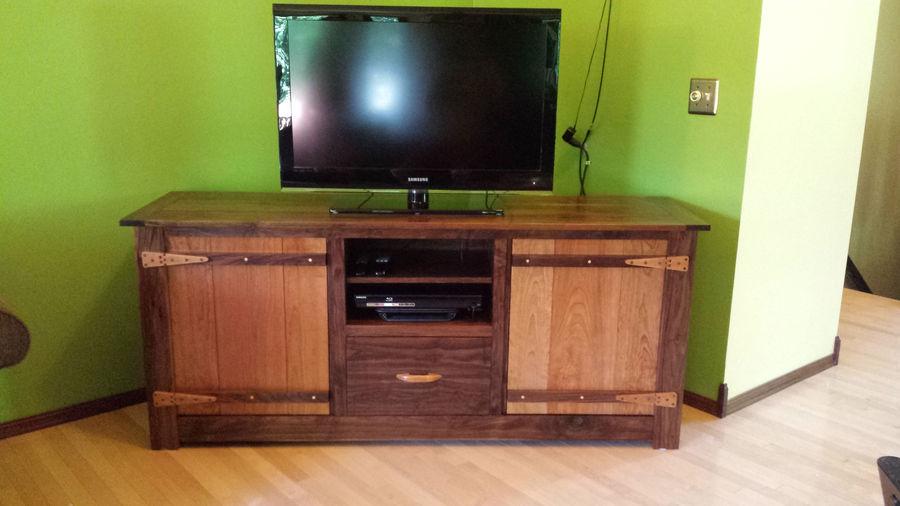 Photo of Walnut And Cherry Tv Stand