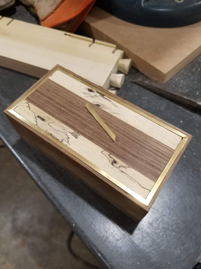 Photo of Teak and Spalted Maple Presentation Box