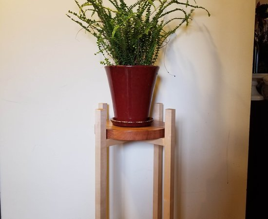 Mid-Century Plant Stands for Christmas