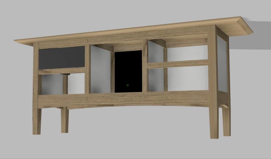 Photo of Scandinavian Design Craftsman Credenza / Media Stand