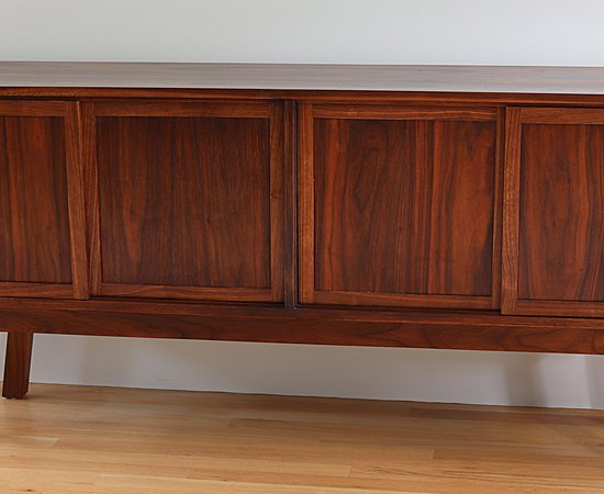 Walnut Credenza With Bookmatched Case And Hand Cut Dovetails