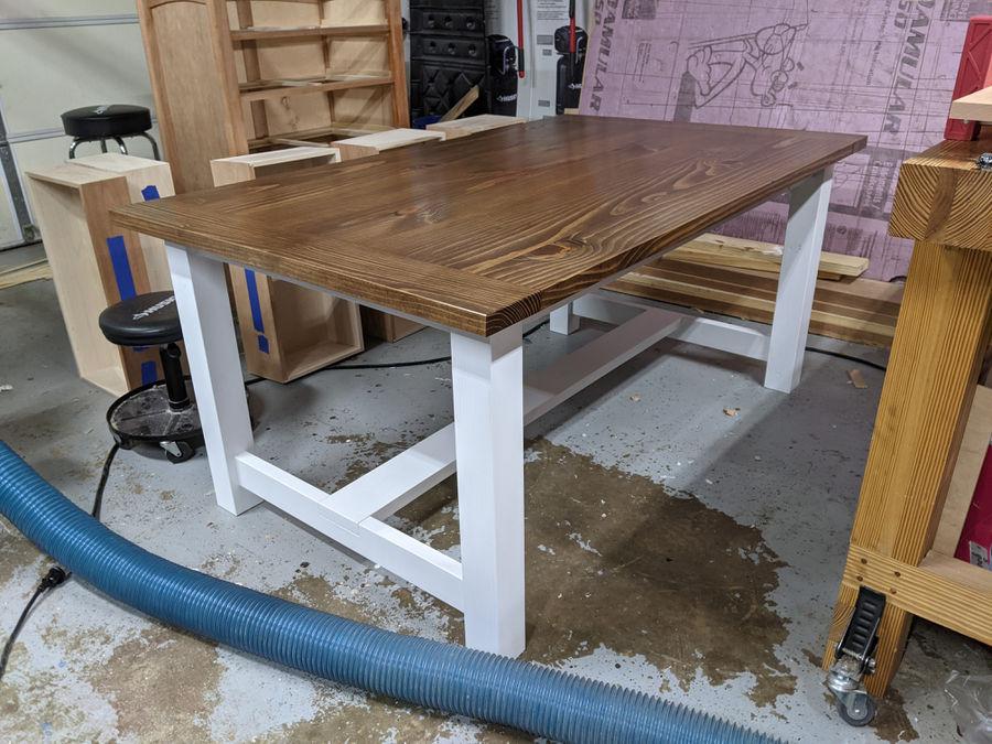 Photo of Simple farmhouse table