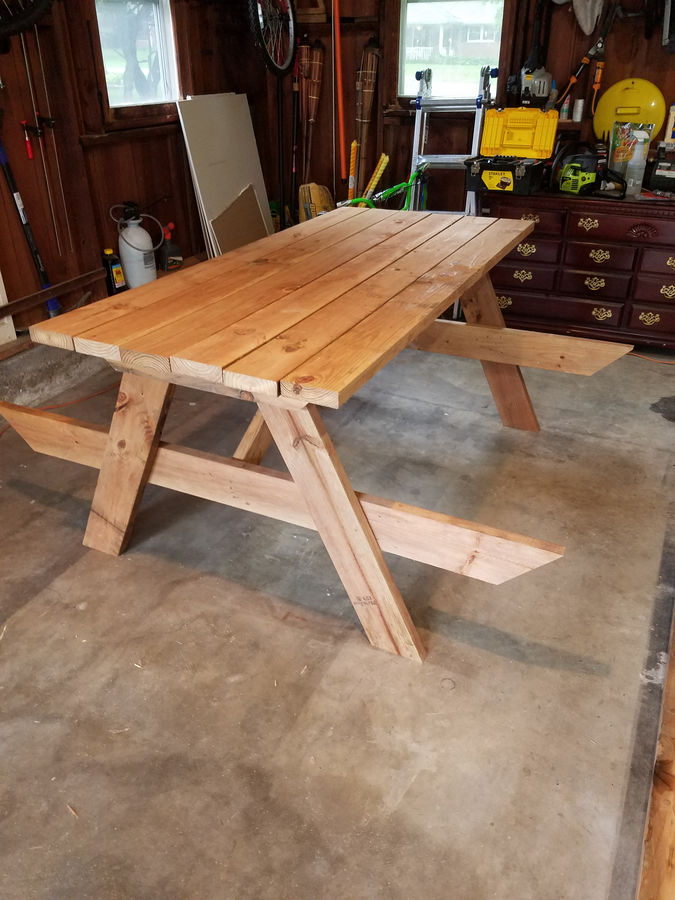 Photo of Repurposed Shed Wood Into Picnic Table