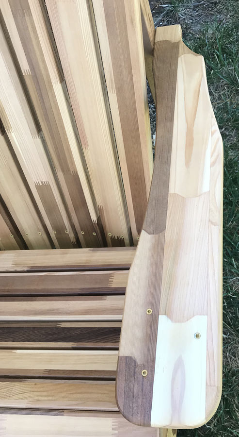 Photo of 280 pieces of cedar  Adirondack chair and table