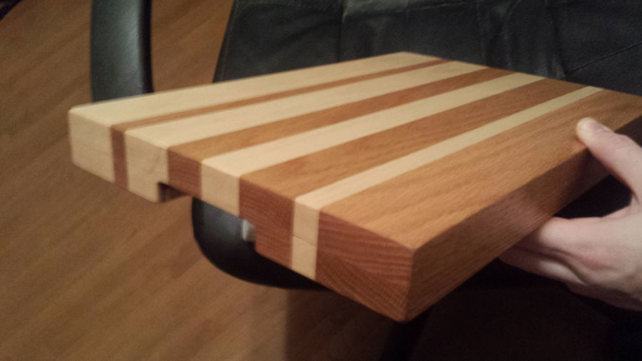 Photo of Oak & Maple Edge Grain Cutting Board