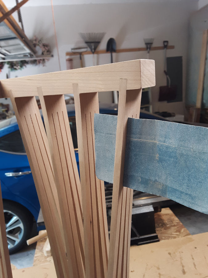 Photo of Console Table In Cherry And Curly Maple