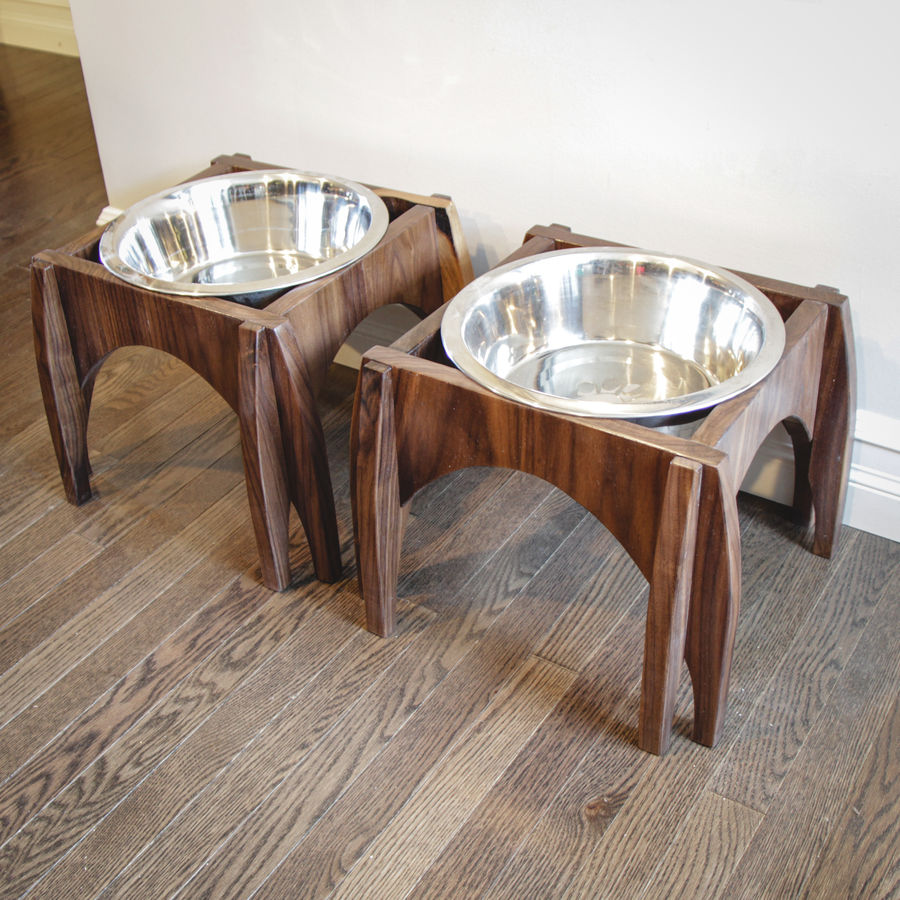 Photo of Knock-down dog bowl stand