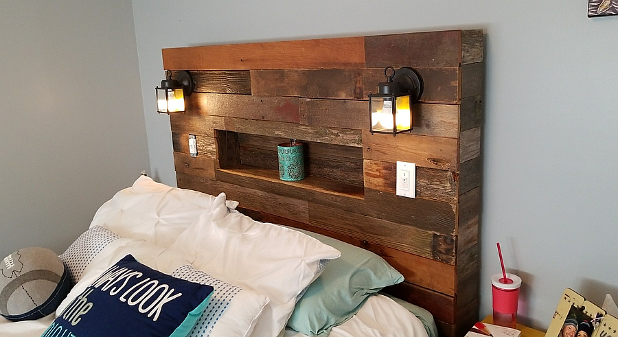Photo of Pallet Wood Headboard