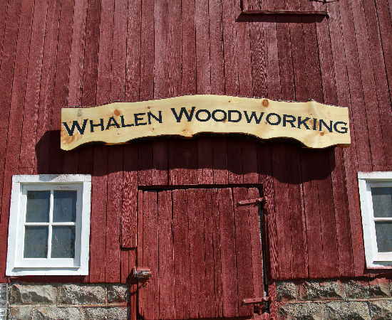 Whalen Woodworking Shop Sign
