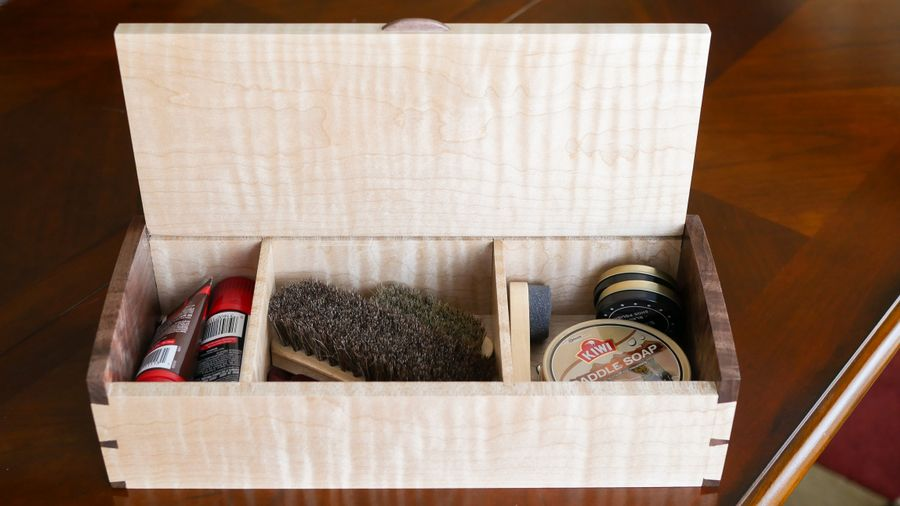 Photo of Curly Maple & Walnut Dovetailed Box